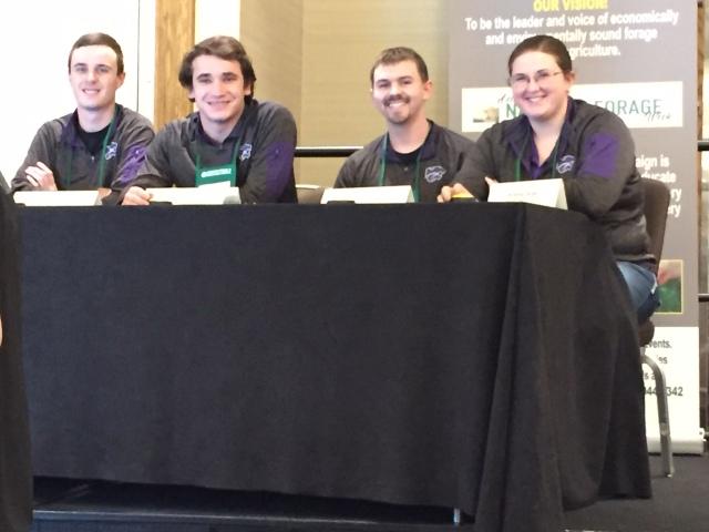 2019 ksu forage judging team